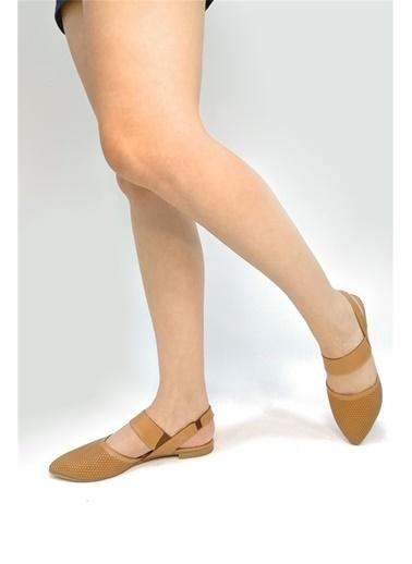 Ballerins El Yapımı Hakiki Deri Taba Kadın Babet Blrs-1903 Taba